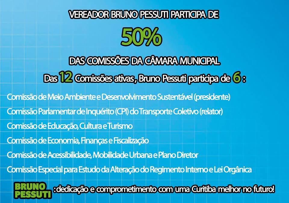 Bruno Pessuti participa de 50% das Comissões da Câmara Municipal - Bruno Pessuti