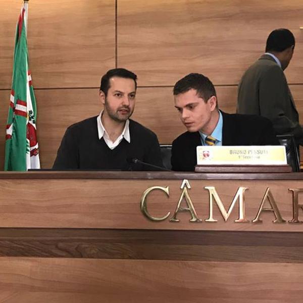 Visita do vereador Rafael Pasqualotto de Bento Gonçalves - Bruno Pessuti