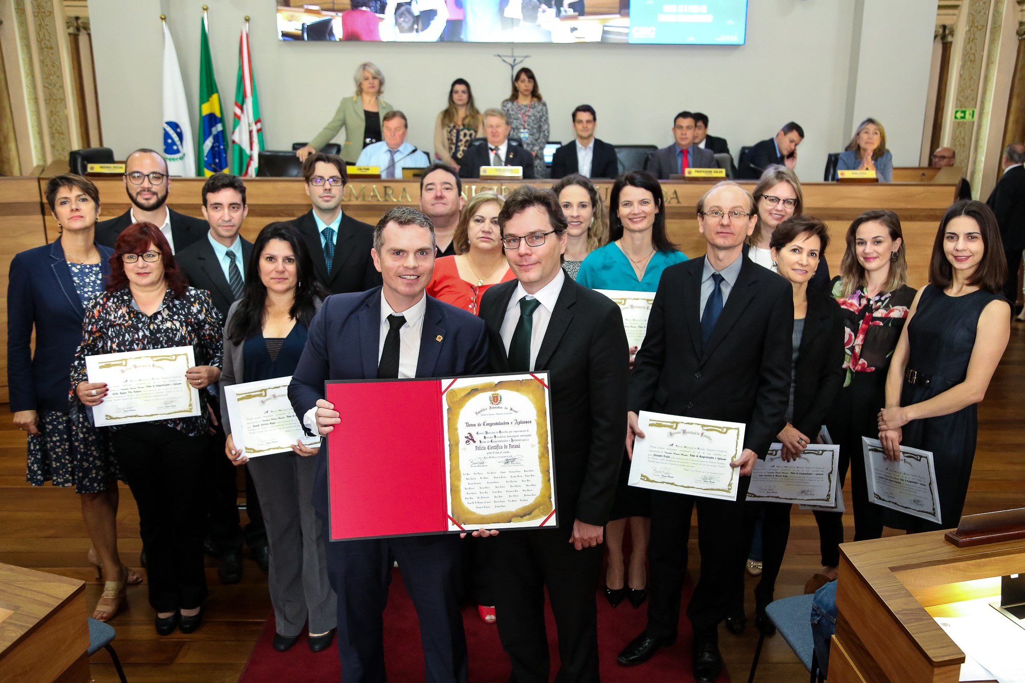 Vereadores de Curitiba homenageiam Polícia Científica - Bruno Pessuti